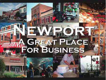 Collage of Newport Businesses