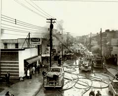 Galaxie Club Fire in 600 Block of Monmouth 1970
