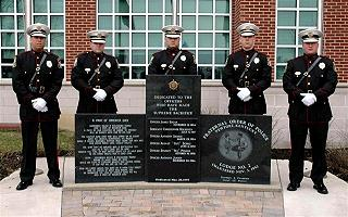NPD Honor Guard at Police Memorial at 998 Monmouth