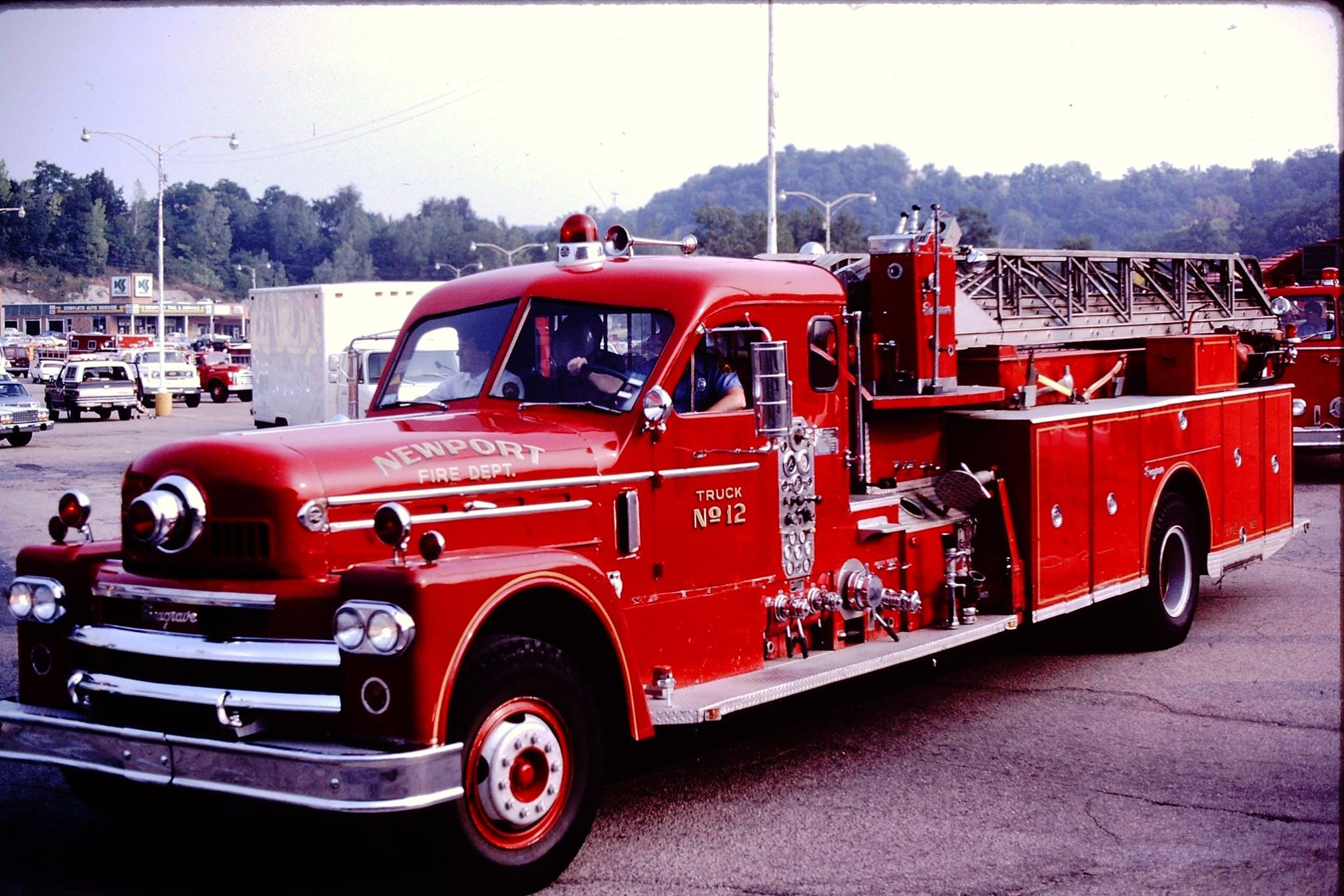 Newport Fire 1965 Seagrave 75 foot Ladder