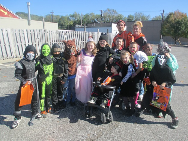 Children in Costumes for Halloween Recreation Event